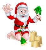 Santa Beach Christmas illustration de vecteur
