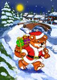 Santa bear obraz stock