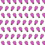 Santa bear - sticker pattern 14. Pattern of a sticker santa bear that can be used as a background, texture, prints or something else royalty free illustration