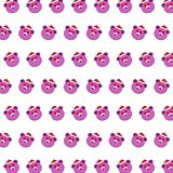Santa bear - sticker pattern 16. Pattern of a sticker santa bear that can be used as a background, texture, prints or something else stock illustration