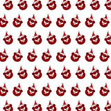 Santa bear - sticker pattern 18. Pattern of a sticker santa bear that can be used as a background, texture, prints or something else vector illustration
