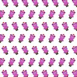 Santa bear - sticker pattern 20. Pattern of a sticker santa bear that can be used as a background, texture, prints or something else royalty free illustration