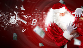 Christmas theme with santa Stock Photos
