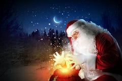 Christmas theme with santa Stock Image