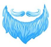 Santa Beard y bigote Imagenes de archivo