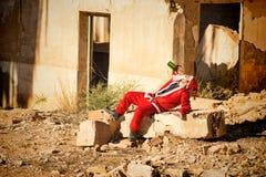 Santa bebendo imagens de stock royalty free