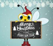Santa Bee Images libres de droits