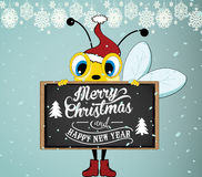 Santa Bee Royalty Free Stock Images