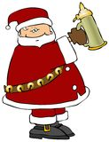 Santa With A Beer Stein. This illustration depicts Santa holding a beer stein Royalty Free Stock Photos