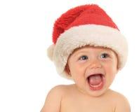 Santa behandla som ett barn Fotografering för Bildbyråer
