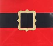 Santa belt buckle. Close up of Santa's belt buckle Royalty Free Stock Photography