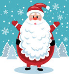 Santa with big beard Stock Photography