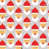 Santa big emotion set background Royalty Free Stock Photography