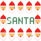 Santa big emotion set Stock Photography