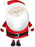 Santa  big head isolated Stock Images