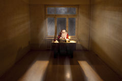 Santa in a big room Royalty Free Stock Photography