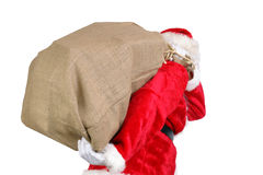 Santa with big sack Stock Image