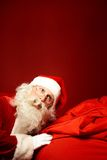 Santa with big sack Stock Photos