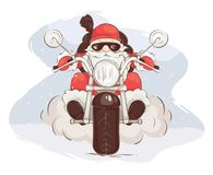 Santa biker Stock Photography