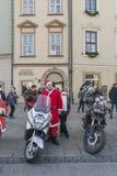 Santa bikers Stock Photos