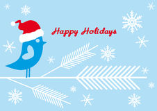 Santa bird, vector Royalty Free Stock Photos
