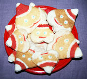 Santa biscuits Royalty Free Stock Photography