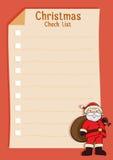 Santa Blank Christmas Check List Royalty Free Stock Image