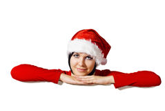 Santa with Blank sign Stock Photography