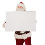 Santa with blank sign Royalty Free Stock Photo
