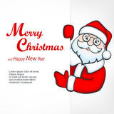 Santa blank sign Royalty Free Stock Photography