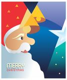 Santa Blessings. This is a Greeting card design for Merry Christmas . It is a semi abstract graphic work on corel draw Stock Photos