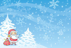 Santa with a blue background Royalty Free Stock Photography