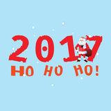 SANTA 2017 on the blue background. COVER Royalty Free Stock Image