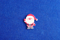 Santa on a blue background Royalty Free Stock Image