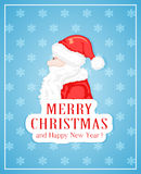 Santa on blue background Royalty Free Stock Photo