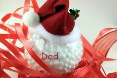 Santa bożych narodzeń Kapeluszowy ornament dla tata Obrazy Royalty Free