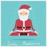 Santa bożych narodzeń medytacja Wektorowa wakacyjna ilustracja ilustracja wektor