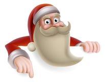 Santa bożych narodzeń znak Fotografia Stock