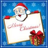 Santa bożenarodzeniowy Kartka z pozdrowieniami ilustracja wektor