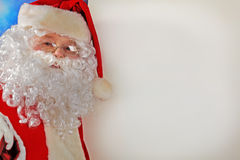 Santa with a board Stock Photo
