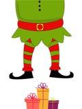 Santa Body mit Geschenken für frohe Weihnachten lizenzfreie abbildung