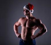 Santa bodybuilder Royalty Free Stock Photos