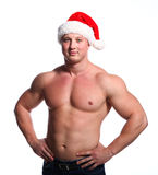 Santa bodybuilder Royalty Free Stock Images
