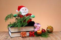Santa on a book Royalty Free Stock Photo