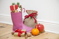 Santa Boots come gumboot immagine stock