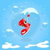 Santa Boots Hang sul Natale del fumetto del ghiacciolo royalty illustrazione gratis