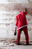 Santa borracho Staggering Foto de archivo libre de regalías