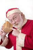 Santa with Box Royalty Free Stock Images