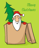 Santa in the box - merry christmas Stock Photography