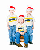 Santa boys Stock Photo
